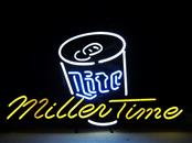"Lite Beer MillerTime with Beer Can 32"" X 19"" Neon Sign"